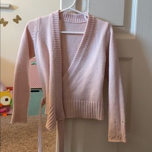 Size 4 pink ballet sweater